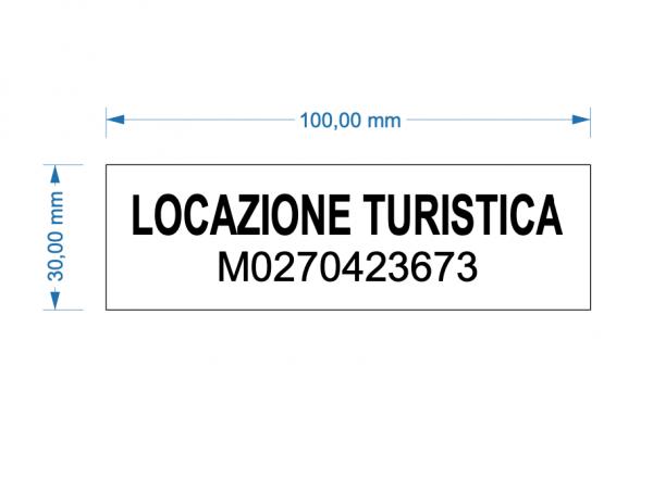 Targa Locazione Turistica Codice Identificativo