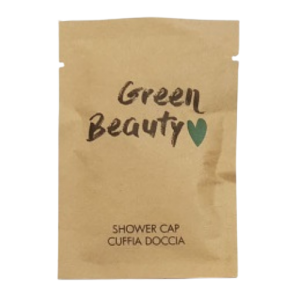 Cuffia Doccia Linea Cortesia Biodegradabile Ecologica Hotel B&B Green Beauty